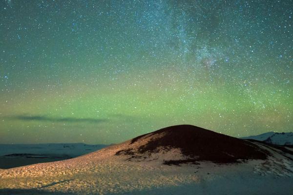 Nothren Light  & Milky Way, Snow Mountain