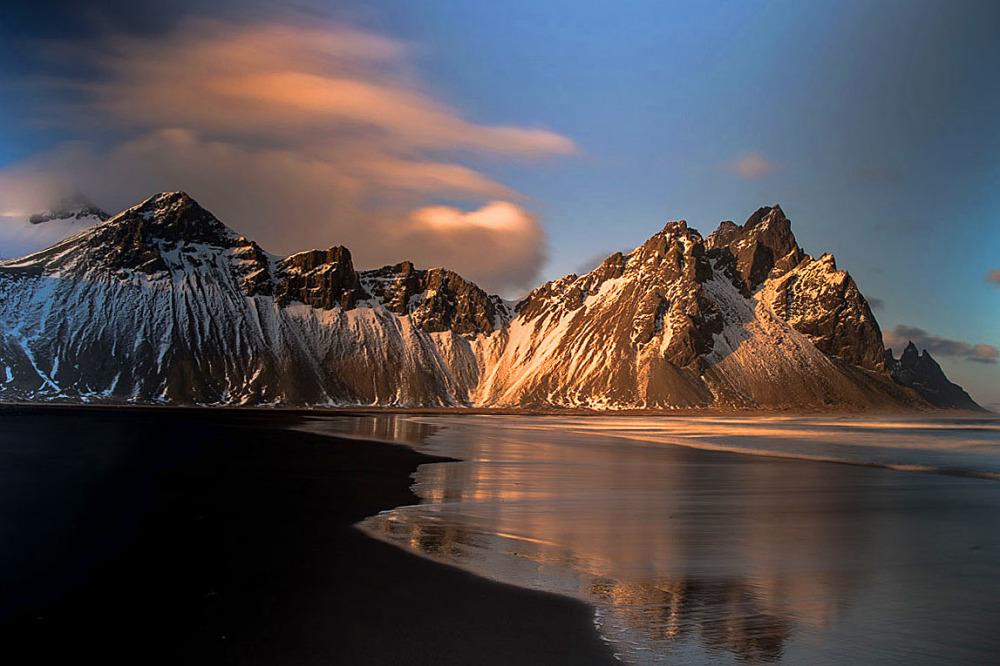 Sveitarfelagio Hornafjrour Beach at Iceland