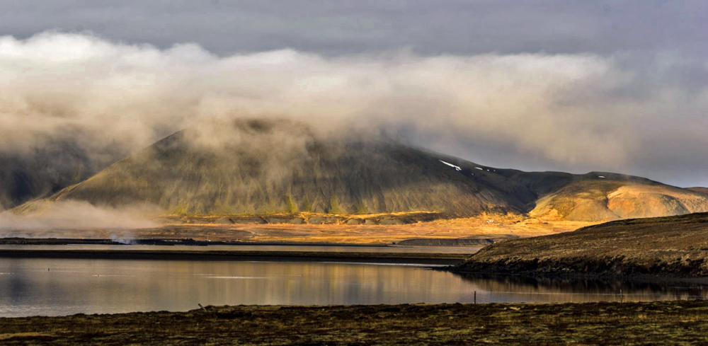 Clouds, Mountains, Lake