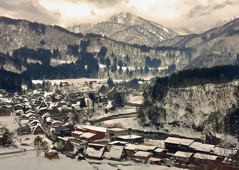 Morning view at Shirakawa, Ono-Gun-Ogimachi