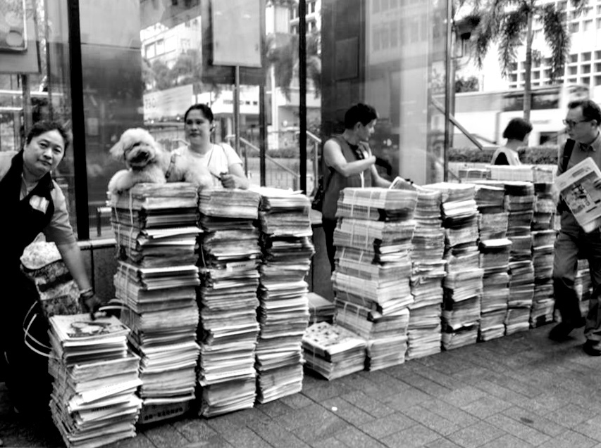 Old style selling new papers