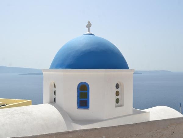 Greek church Oia Santorini