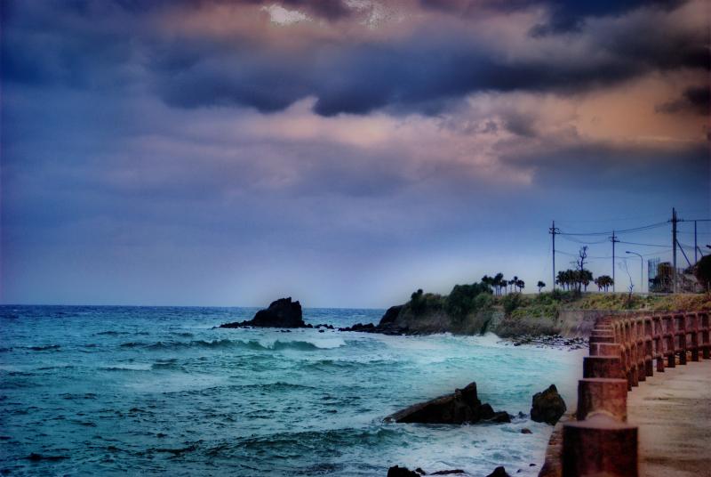 Shoreline Walk stormy sky