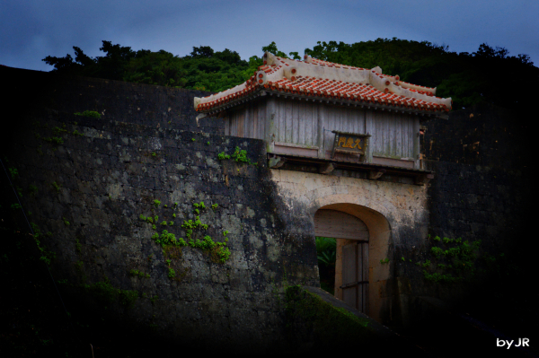 One of the entrances to Shuri Castle.