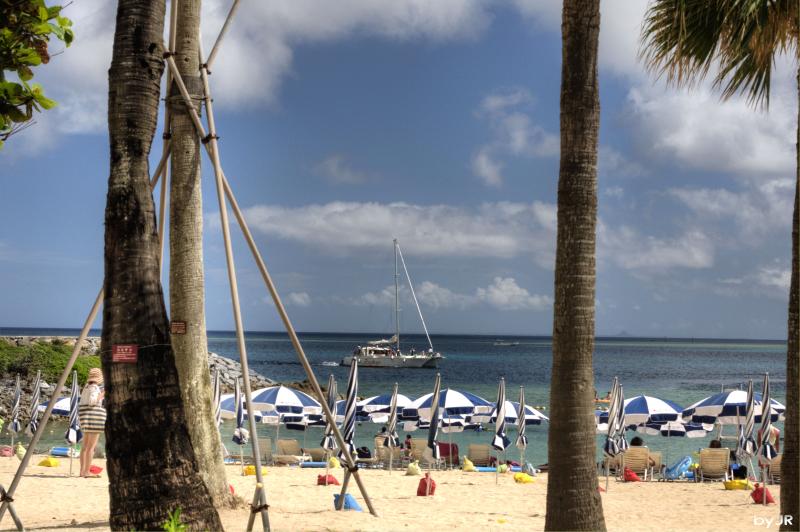 A summer view of Renaissance beach.