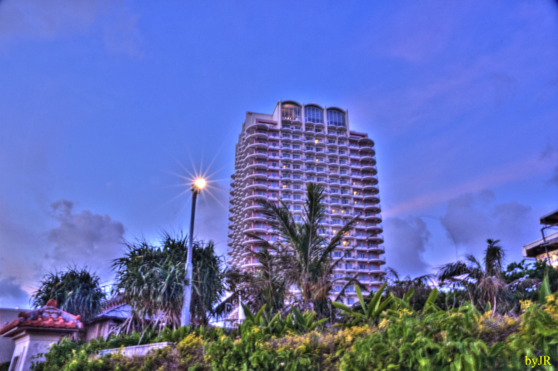 The Beach Tower Resort Hotel in Chatan.