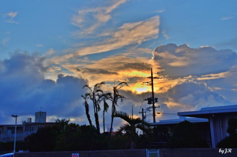 An Okinawan sunrise.