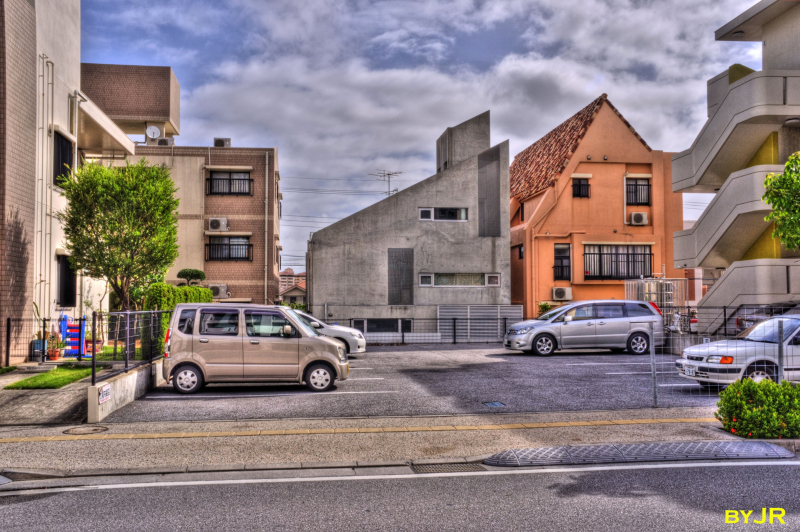 New modern styled houses.