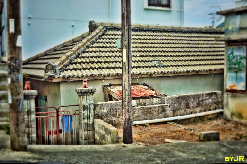 An old style Okinawan house.