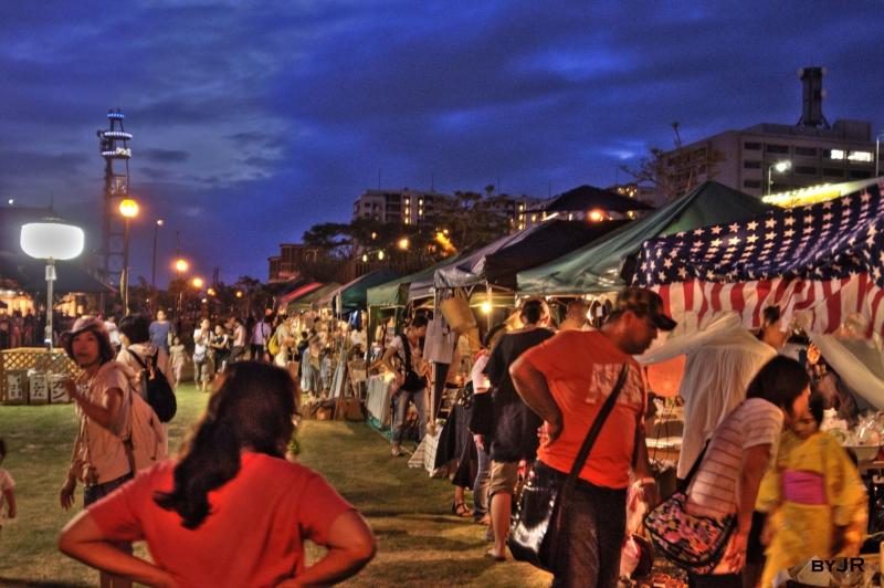 A night flea market in shintoshin.