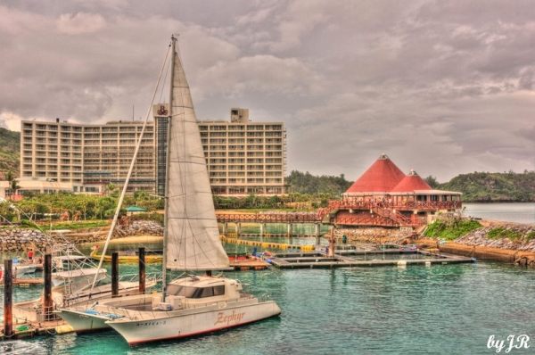 The boat dock at Renaissance Resort Hotel,