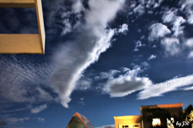 Early morning clouds at Okuma Resort.