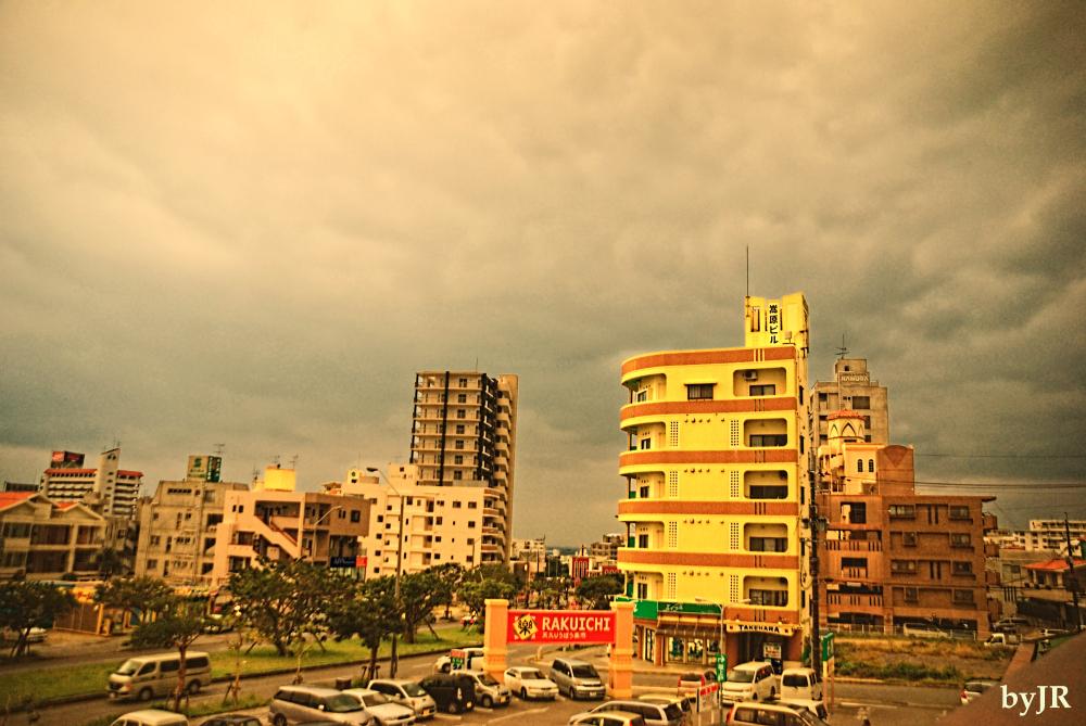 A city scape of Shinbtoshin, Okinawa.