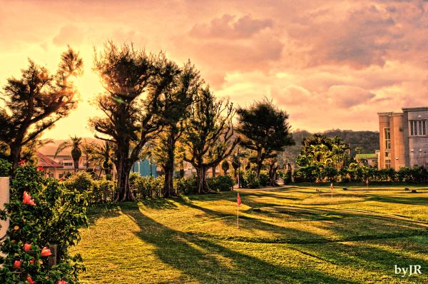 Okanawan resort Hotel sunrise.