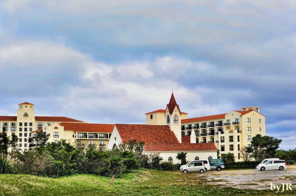Alivila hotel and chapel in Okinawa.