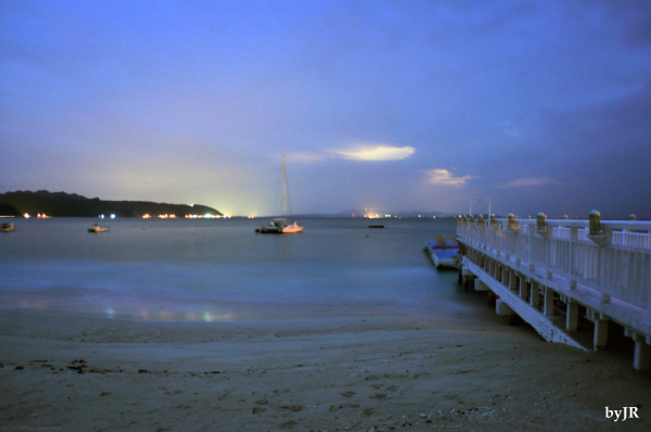 Slow exposure at Okuma Beach.