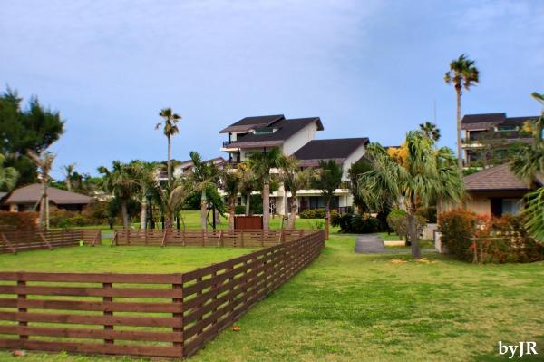 A part of the grounds at Okuma Resort.
