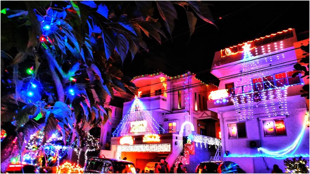 Okinawa Christmas lights.