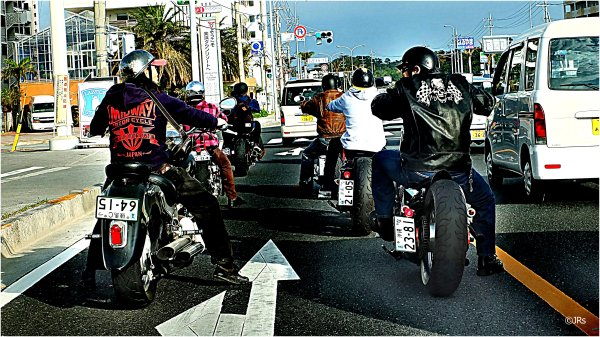 Bikers out for a sunday run.