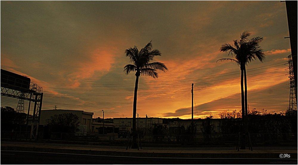 Sunrise over Camp Foster.