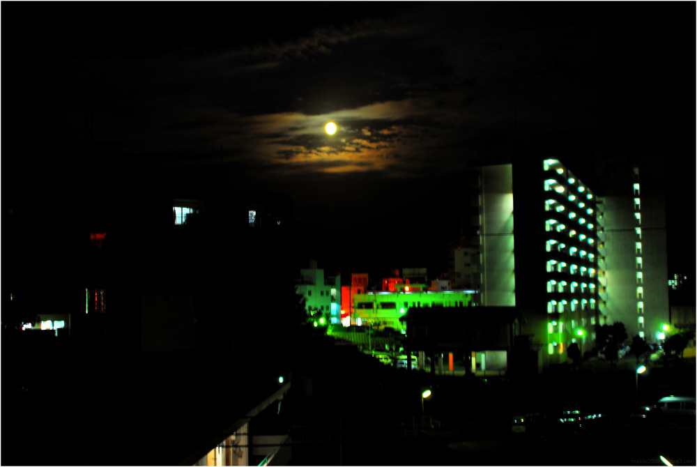 Night moon over Okinawa.