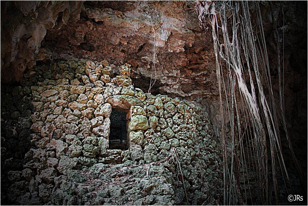 An old tomb in the cave area.