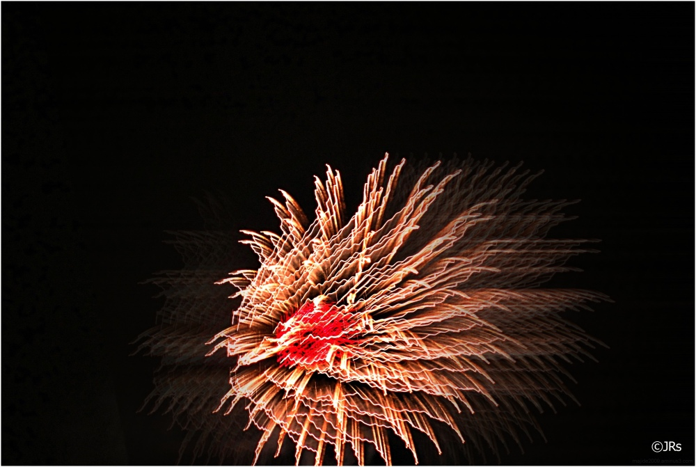 Fireworks from Ginowan City.