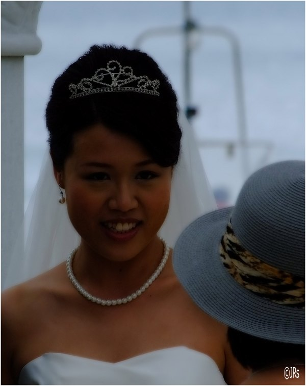 The happy and beautiful bride.