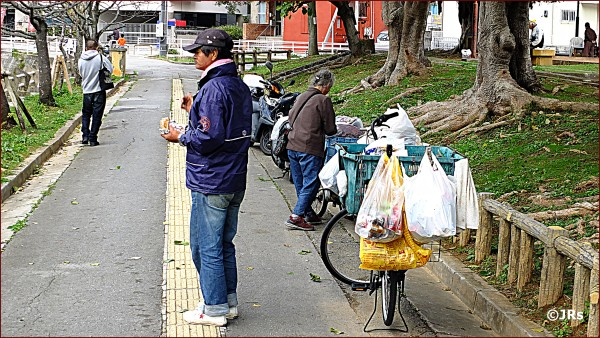 The bikes are often used to carry their belongings