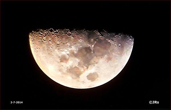 Last night's moon.