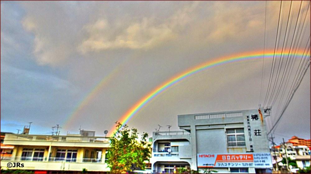 A nice double rainbow.