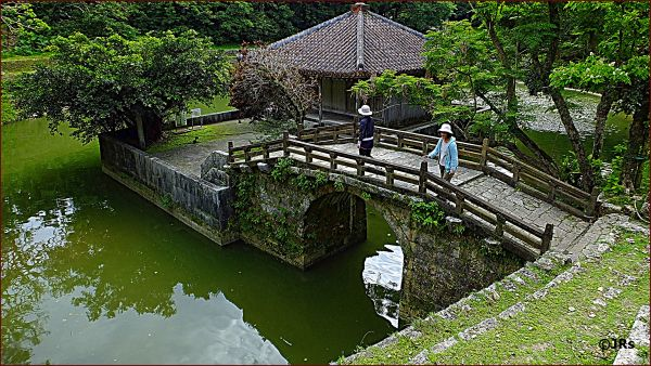 A little pond at Shuri Castle.