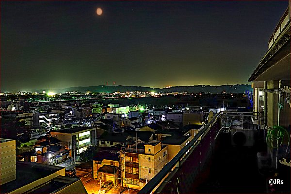 Taken from the ninth floor, Toyama at Night.