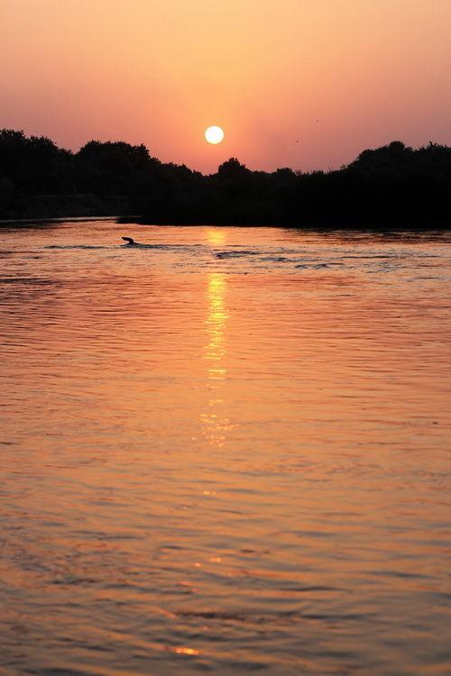 sunset in karkhe-iran