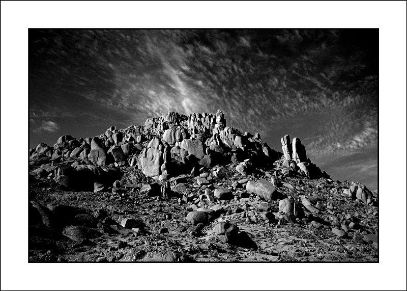 lumière sur les rochers du Hoggar