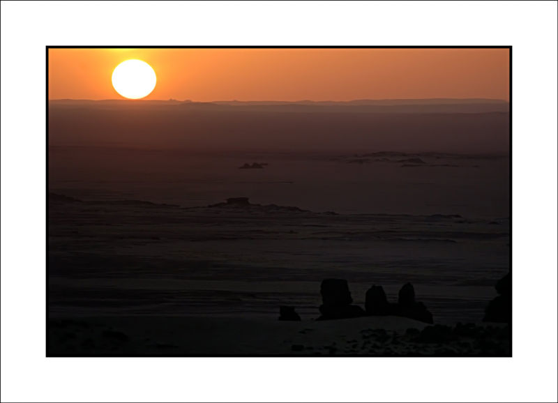 sunset in Sahara,Algeria.