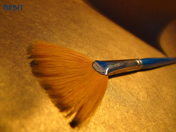 Blue golden brush