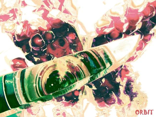 pomegranate, knife, mirror, yalda, celebration,