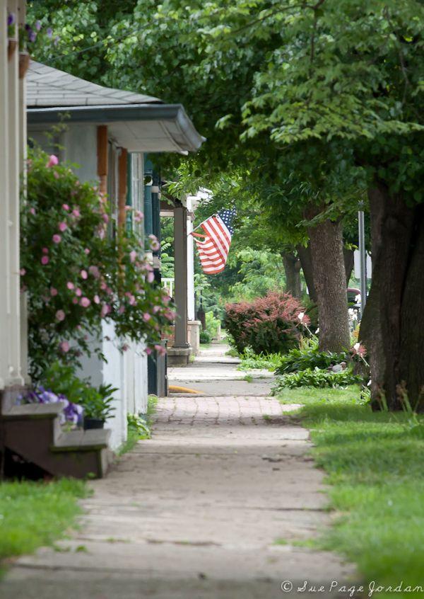 spring sidewalk