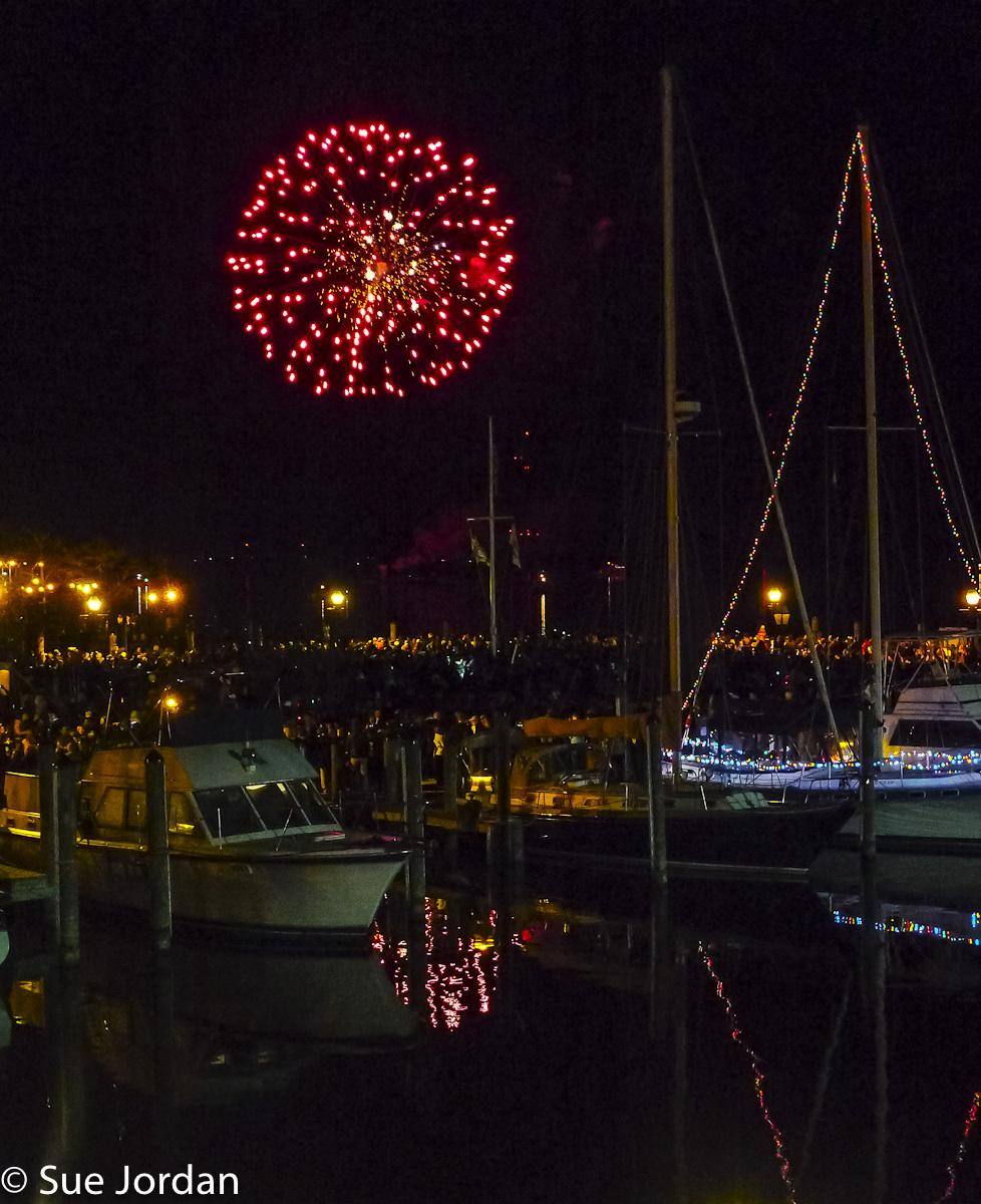 Fireworks over Annapolis Harbor NYE