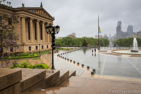 Rainy Day at the Art Museum in Philadlephia