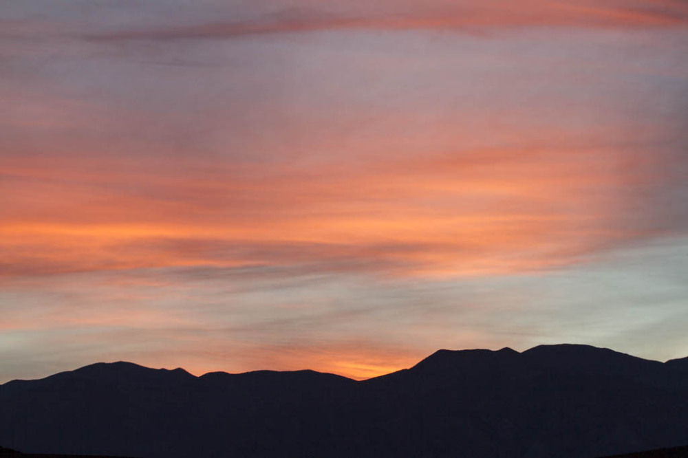 Swiping sunset over Death Valley NP
