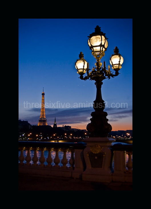 Pont Alexandre III Bridge at dusk