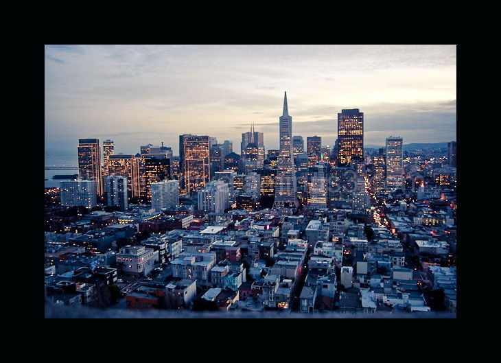 view of san francisco cityscape from coit tower