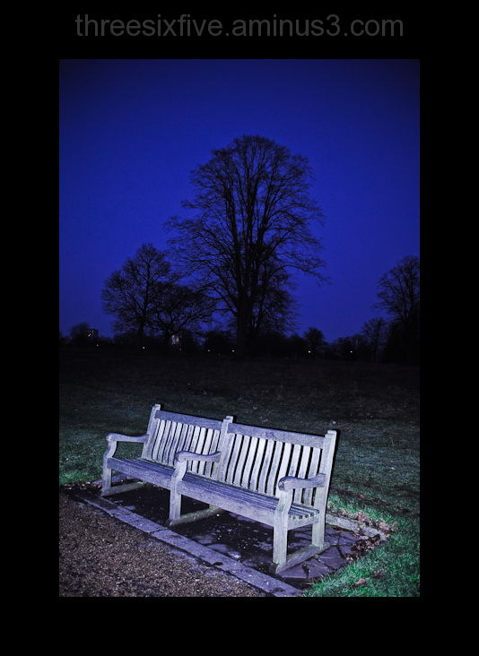 park bench in hyde park