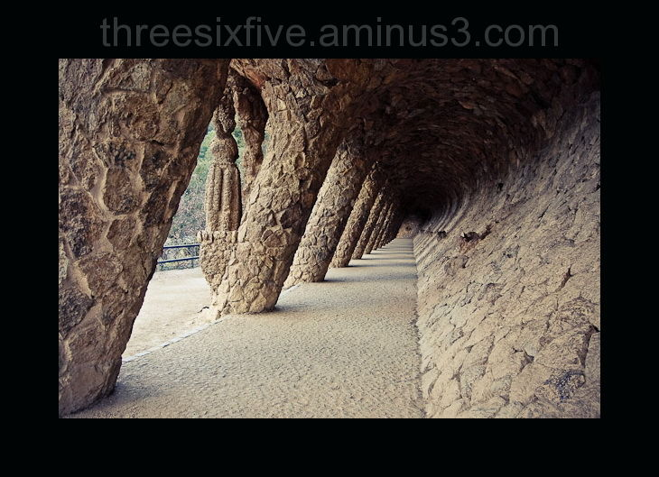Colonnade in Guell Park