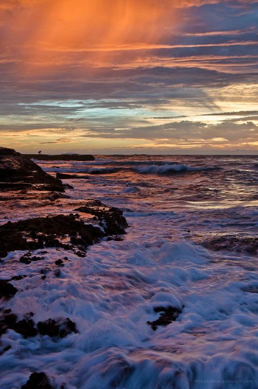 Photographing sunrise at Newport Beach