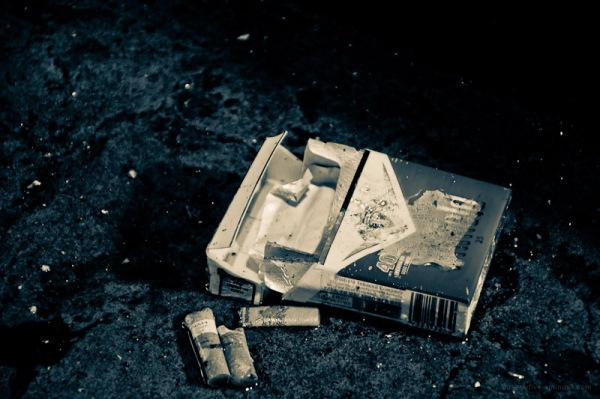 discarded cigarettes