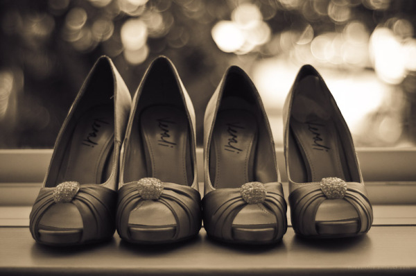 Bridesmaid's shoes.