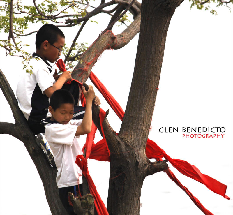 tie a red ribbon